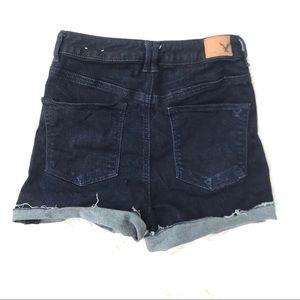 American Eagle High Rise Jean Shorts Dark Wash